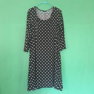 Nina Leonard Polka Dot Dress